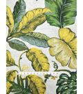 Tropic Time Linen Fabric 57\u0027\u0027-Green Leaf