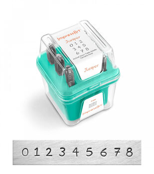 ImpressArt Number Stamp Set 3mm 9/Pkg-Juniper