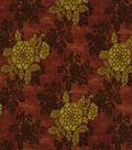 Home Decor 8\u0022x8\u0022 Fabric Swatch-Print Fabric Robert Allen Belle Crest Claret