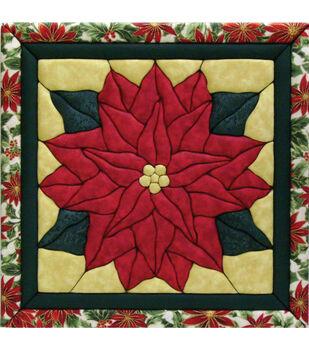 "Poinsettia Quilt Magic Kit-12""X12"""