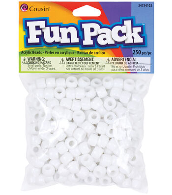 Fun Pack Pony Beads-Red 250/Pkg