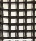 Knit Apparel Fabric 57\u0022-White Black Plaid