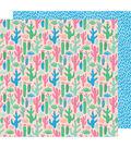 American Crafts Sunshine & Good Times 12\u0027\u0027x12\u0027\u0027 Cardstock-Let\u0027s Hug