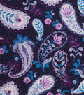Keepsake Calico Cotton Fabric -Multi Purple Paisley