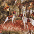Anti-Pill Plush Fabric-Hunting Dogs