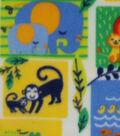 Nursery Fleece Fabric -Bright Jungle Patch