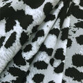 Knit Prints Double Brushed Fabric-Black & White Cheetah