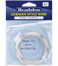 Beadalon German Style Round Wire 26 Gauge 65.5 Feet/Pkg-Silver