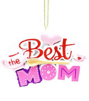 Handmade Holiday Christmas Ornament-The Best Mom