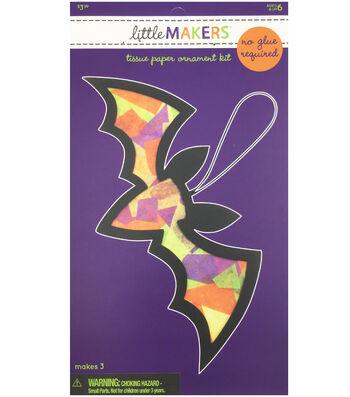 Little Maker's Tissue Paper Ornament Kit-Bat
