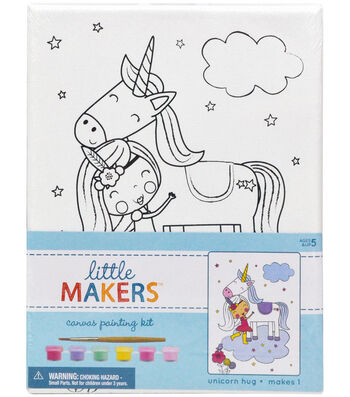 Little Makers 6X8 Canvas Kit-Unicorn Hug