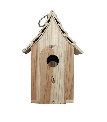Birdhouse House With Shingles