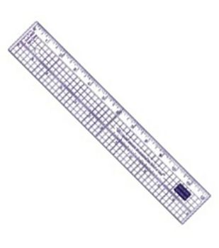 Acrylic Ruler With Metal Edge 12""