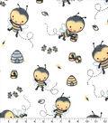 Nursery Flannel Fabric-Bee Hive