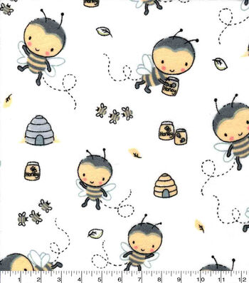 Nursery Flannel Fabric-Bee Hive