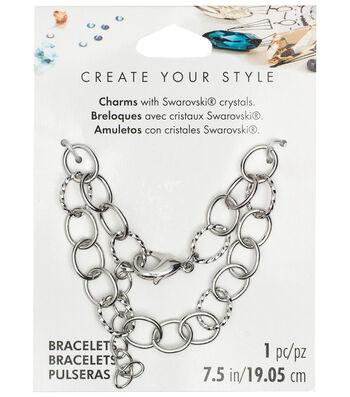 Swarovski Create Your Style Chain Bracelet Base-Silver