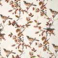 Anti-Pill Plush Fleece Fabric-Birds And Fall Leaves