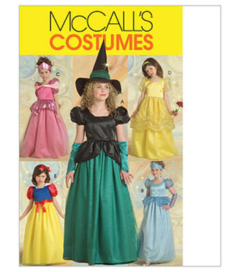 McCall's Pattern M5494-Children's/Girls' Princess and Witch Costumes