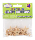 Krafty Kids Craft Shaped Natural Stars Buttons