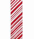 Maker\u0027s Holiday Christmas Ribbon 2.5\u0027\u0027x25\u0027-Red Glitter Candy Stripes