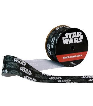 "Offray 1.5""x9' Star Wars Character Ribbon-Black"