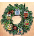 Janlynn Counted Cross Stitch Kit Owl Ornaments