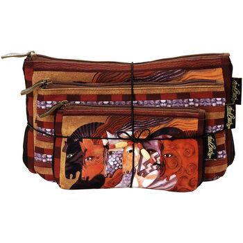 Laurel Burch Cosmetic Bag Set Of Three-Moroccan Mares