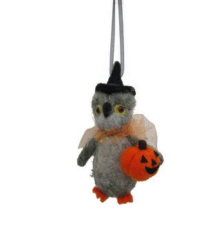 Maker's Halloween Wool Witch Owl Ornament