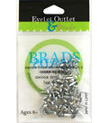 Eyelet Outlet Round Brads 4mm 70 pcs