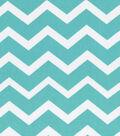 Keepsake Calico Cotton Fabric 43\u0027\u0027-Turquoise & White Chevron