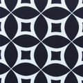 Knit Prints Pima Cotton-Navy White Geo Circles