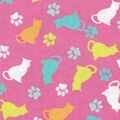 Snuggle Flannel Fabric -Tossed Cats