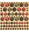 Merry&Bright Foil Paper 12\u0022x12\u0022 Baubles