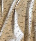 Home Essentials Paris Lightweight Decor Fabric 45\u0022-Just Writing Graphite