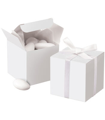 Square Box 100/Pkg-White