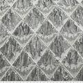 Quinceanera Diamond Sequin Dangles Fabric-Silver