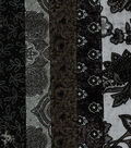 Jelly Roll Cotton Fabric Pack 2.5\u0027\u0027x42\u0027\u0027-Black