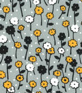 Quilter\u0027s Showcase Fabric -Amber Yellow & Black Floral