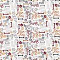 Novelty Cotton Fabric -Woof Woof Dog Words
