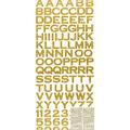 Sticko 224 Pack Copperplate Glitter Alphabet Stickers-Gold