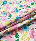 Doodles Juvenile Apparel Fabric -Flamingo Pucker