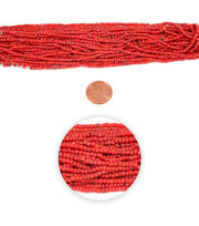Blue Moon Strung Glass Seed Bead Hank,Coral, , hi-res