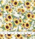 Harvest Cotton Fabric 44\u0022-Autumn Sunflowers