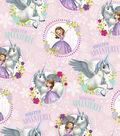 Disney Sofia the First Cotton Fabric -Unicorn Adventures