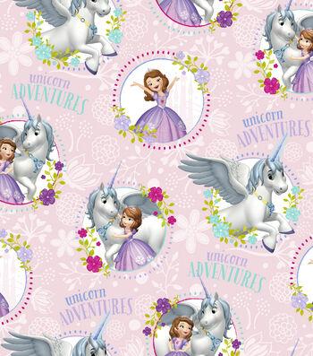Disney Sofia the First Cotton Fabric 43''-Unicorn Adventures