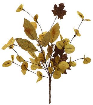 Blooming Autumn 17'' Foliage Maple Bush-Yellow & Brown