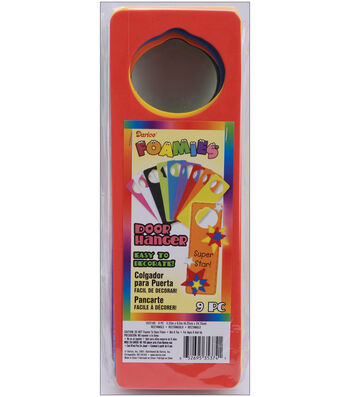 Darice Foam Door Hangers 9/Pkg-Assorted Colors