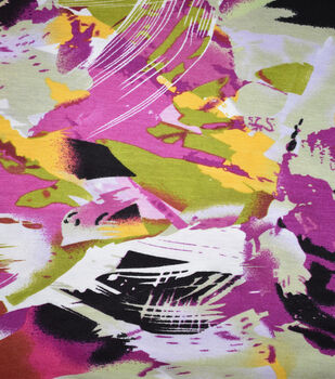 Fast Fashion Rayon Spandex Fabric-Begonia Abstract Paint