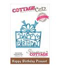 CottageCutz Elites Die -Happy Birthday Present 2\u0022X2.1\u0022
