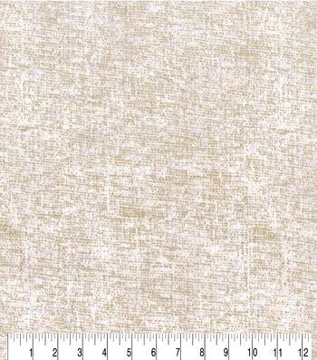 "Harvest Cotton Fabric 43""-Ivory Crosshatch"